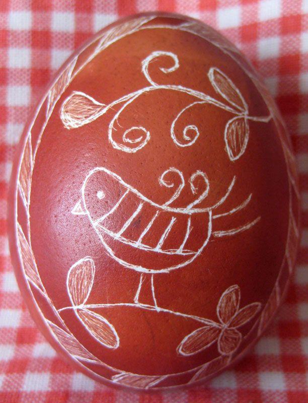 Моя коллекция: Украшение пасхальных яиц в технике драпанка.