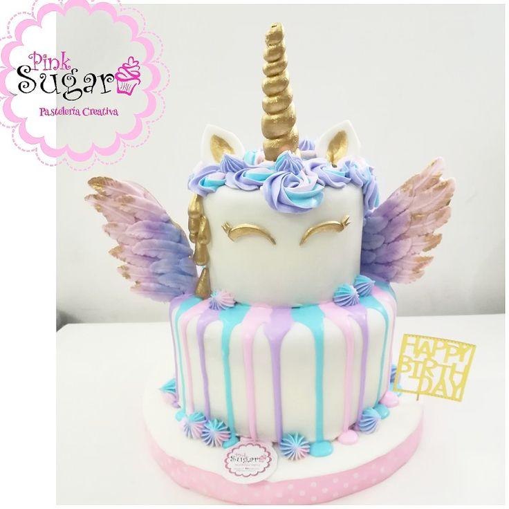 Unicorn cake with Wings drip cake Unicorn torta unicornio con alas cake