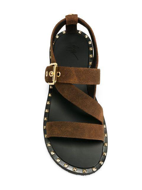 6864bd2f2f2768 Shop Giuseppe Zanotti Design stud detail sandals .