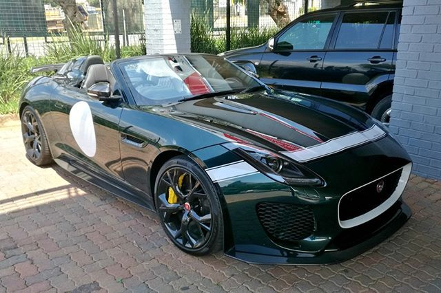 The combo of British Racing Green and the glorious Jaguar F-Type Project 7 get's #TopSpot this week! Nice capture by @chris13hirson   #ExoticSpotSA #SouthAfrica #Jaguar #Ftype #Project7 #BritishRacingGreen