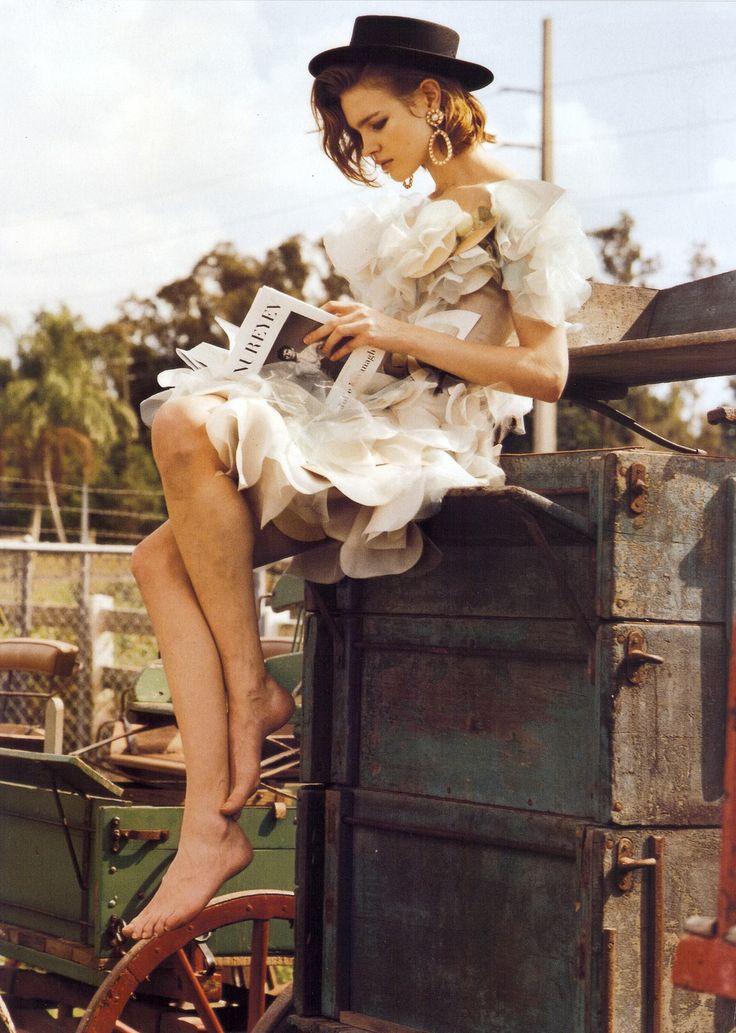 Natalia Vodianova by Bruce Weber for Vogue Italia March 2008