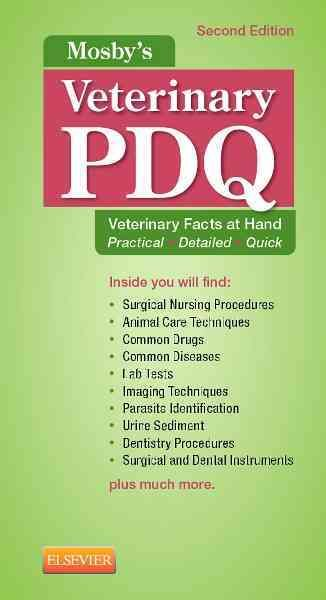 No veterinary technician should be without this pocket-sized reference! Ideal for the clinical setting, Mosby's Veterinary PDQ, 2nd Edition provides quick access to hundreds of veterinary medicine fac