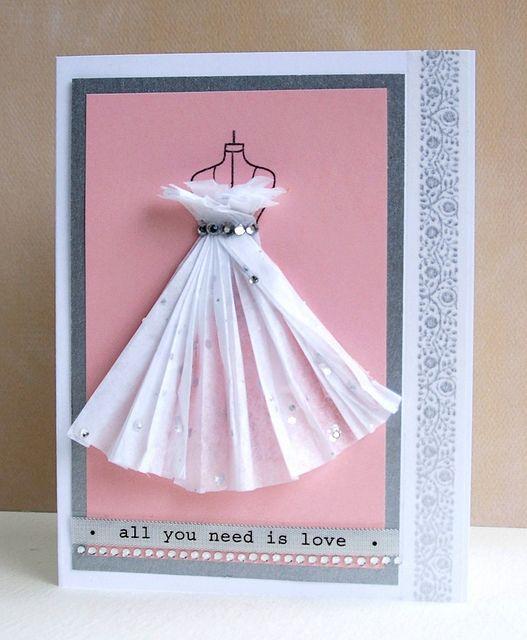 Объемные открытки платье, надписью лучшей подруге
