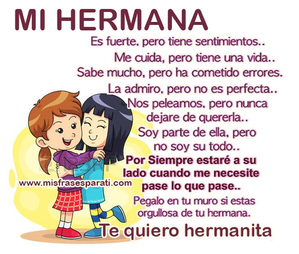 1000 images about frases e imagenes on pinterest - Que regalar a tu hermana ...