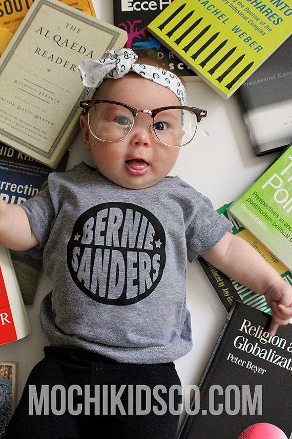 Bernie Sanders Baby Kid Toddler Graphic T Shirt by MochiKids