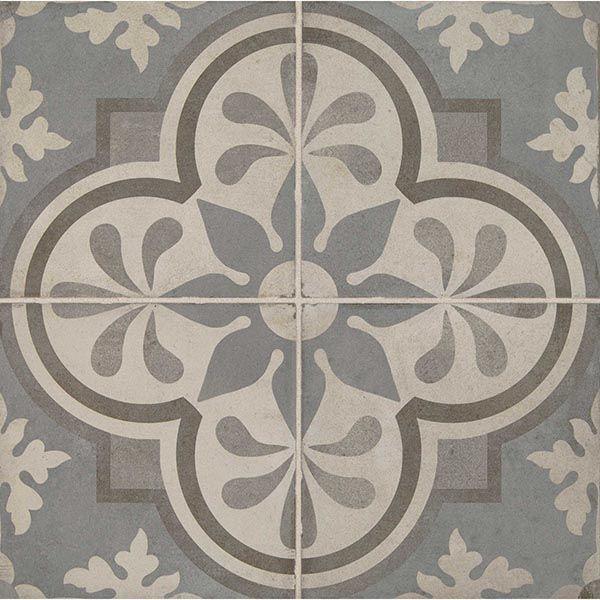 Daltile Quartetto Cool Grande Fiore 8 X 8 Porcelain Tile Daltile Porcelain Tile Flooring