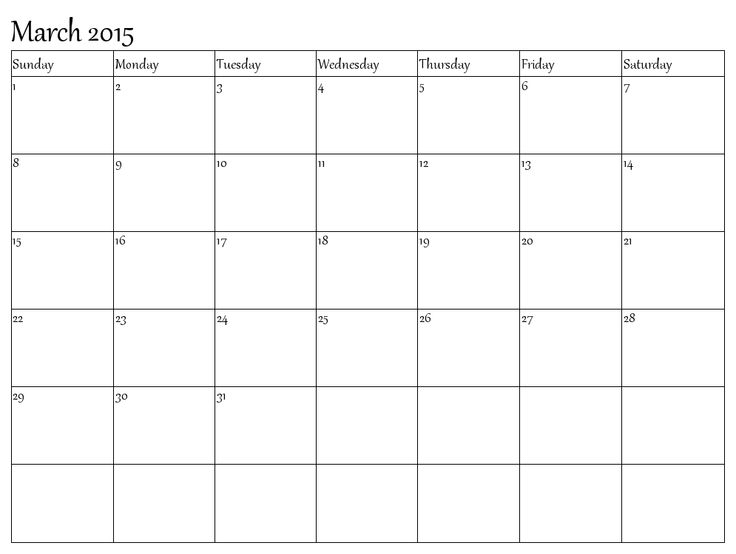 52 best March 2015 Calendar images on Pinterest Printable - calendar templates in word
