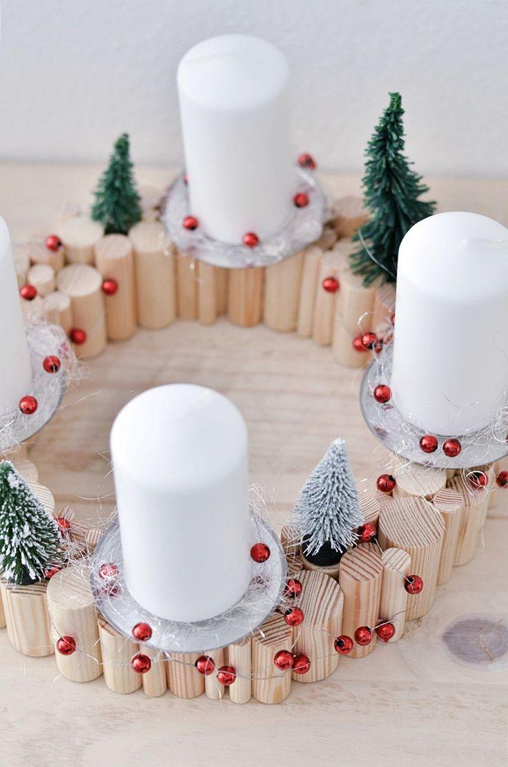 54 besten diy adventskranz ideen bilder auf pinterest weihnachtszeit weihnachtsdekoration und. Black Bedroom Furniture Sets. Home Design Ideas
