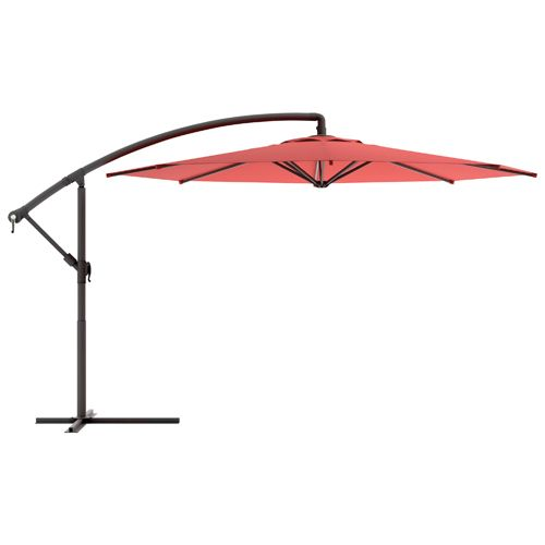 CorLiving 3m Offset Patio Umbrella - Red   - Online Only