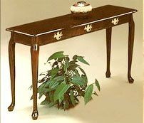 CHERRY ENTRANCE FOYER / HALL TABLE SOFA TABLE QUEEN ANNE   Click Image  Twice For More
