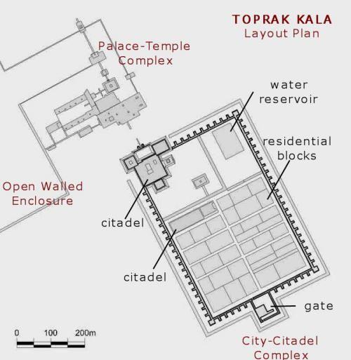 Layout plan of the Toprak Kala site