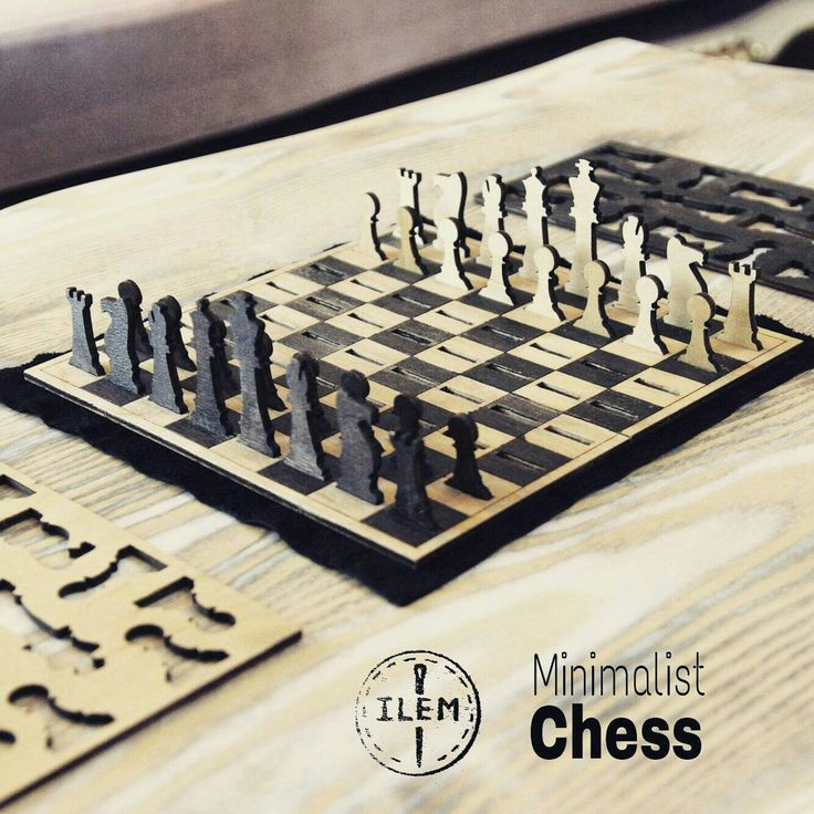 Ok, who wants this?  The best stylish chess set ever.