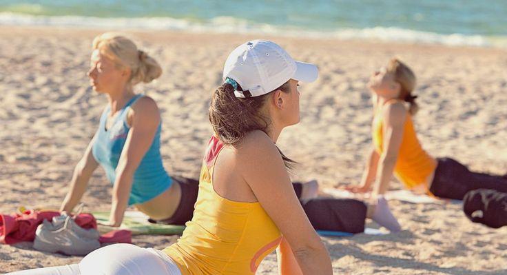 Great Stirrup Cay local yoga class on the beach. #CruiseHappy #Bahamas #Cruise #TravelIdeas #TravelInspiration #Cruising #Vacation #Travel
