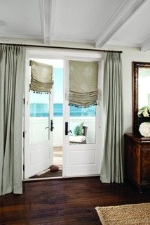 Great Idea For French Doors Combine Roman Shades D Call Budget Blinds To See