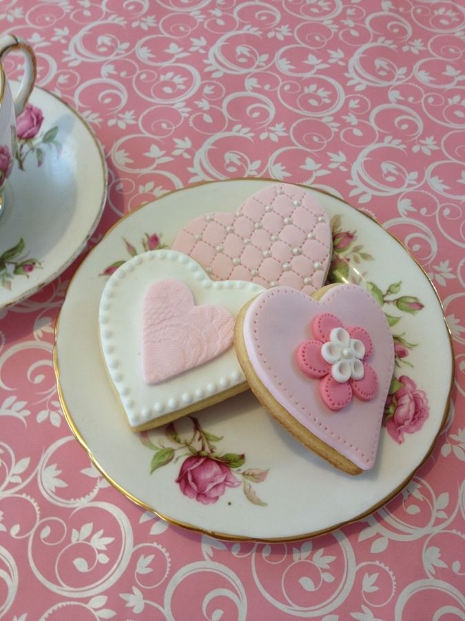 Valentine cookiesThe San Valentín, Valentine Cookies, Cookies, Cake, Sweets Valentine, Decorated Cookies, Baking, Fancy Cookies, Vanilla Cookies