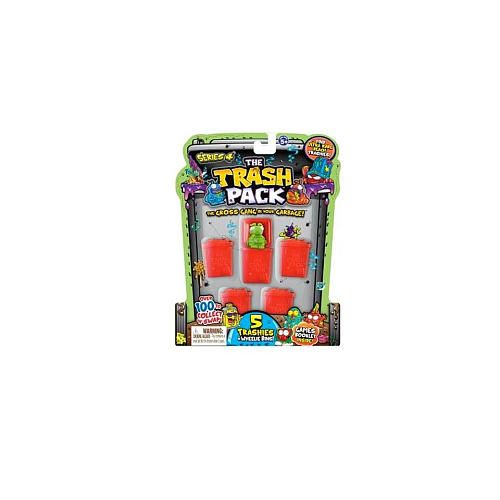 """The Trash Pack Series 4 - """"Trashies"""" 5-Pack Collectible Figures"""
