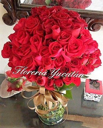 Rosas por Floreria Yucatan, Mexico