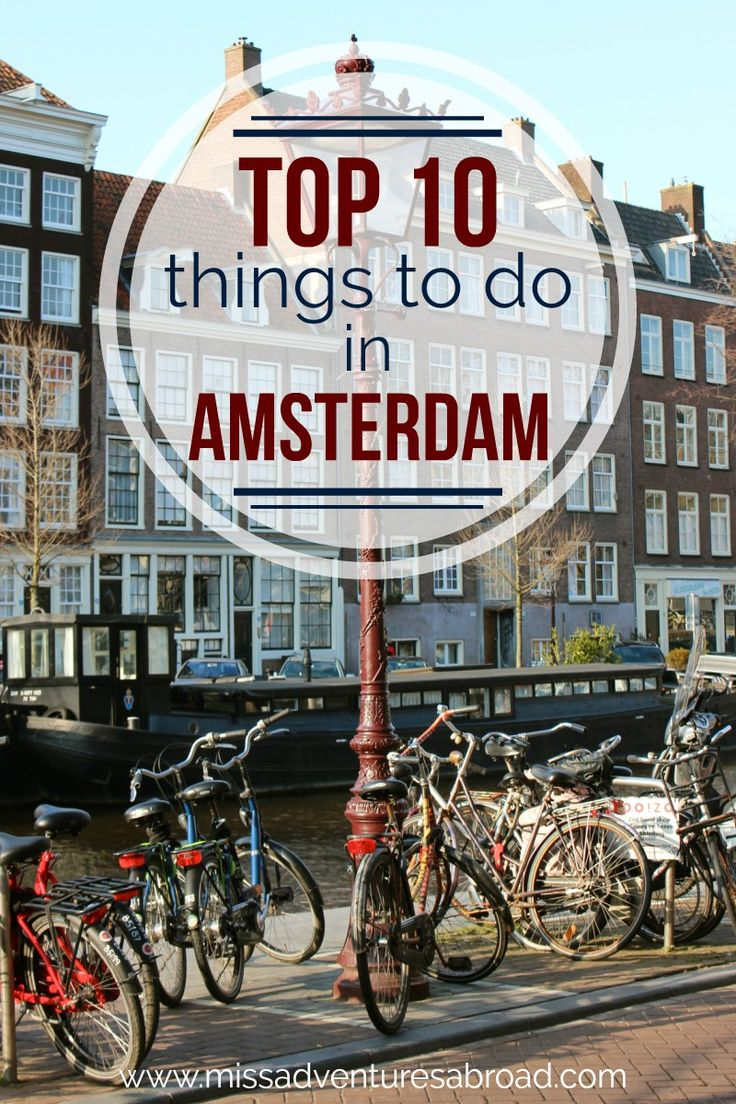 Top 10 Things To Do To Ensure an Amster-dam Good Time | Miss Adventures Abroad ·  Discover the top 10 things to see and do in Amsterdam! From wandering the canals to visiting the Anne Frank House and Amsterdam's floating flower market, this beautiful European city offers so much to do. Museums, good food, fun nightlife...you will be glad you planned a trip to visit this charming capital of the Netherlands!