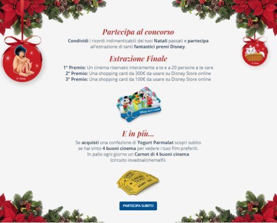 #Concorso #Parmalat Il mio Natale, Il mio Yogurt: vinci biglietti cinema, premi #Disney e #buoni #sconto