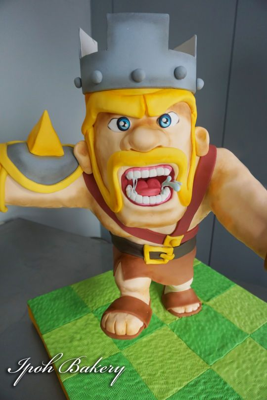 how to draw a barbarian king from clash of clans