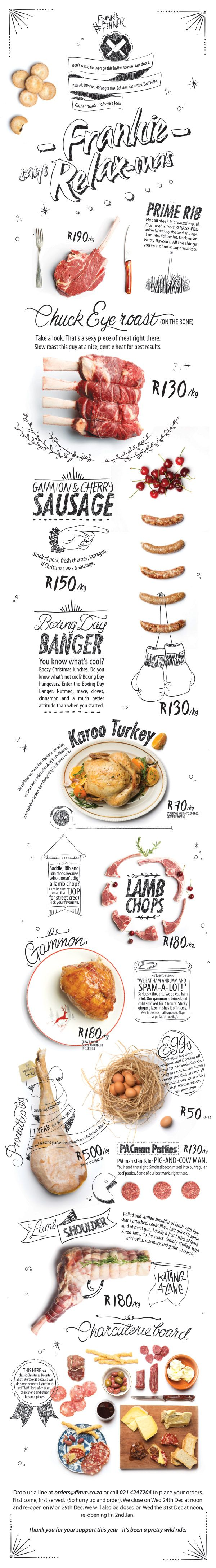 BEAUTIFUL INFOGRAPHICS - Frankie says Relax-mas Published by Maan Ali #foodinfographics #bestinfographics