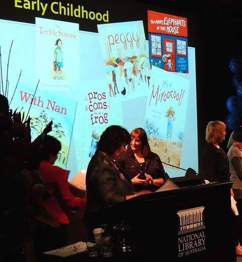 Happy Book Week everyone, and congratulations again to Tania Cox and Karen Blair on winning #Honour #Book for With Nan in the Early #Childhood section of the #CBCA Book of the Year Awards.  Here's a picture from the ceremony in #Canberra on Friday!  Reprinting copies, stay tuned for availability. Copies should be available soon from book shops and at www.windyhollowbooks.com.au.