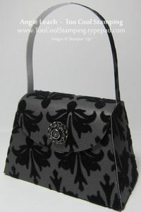 Petite Purse: Velvet Flocked