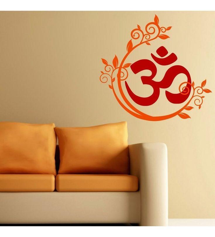 Chipakk Om Design -Red Orange Decal by Chipakk Online - Spiritual - Home Decor - Pepperfry Product