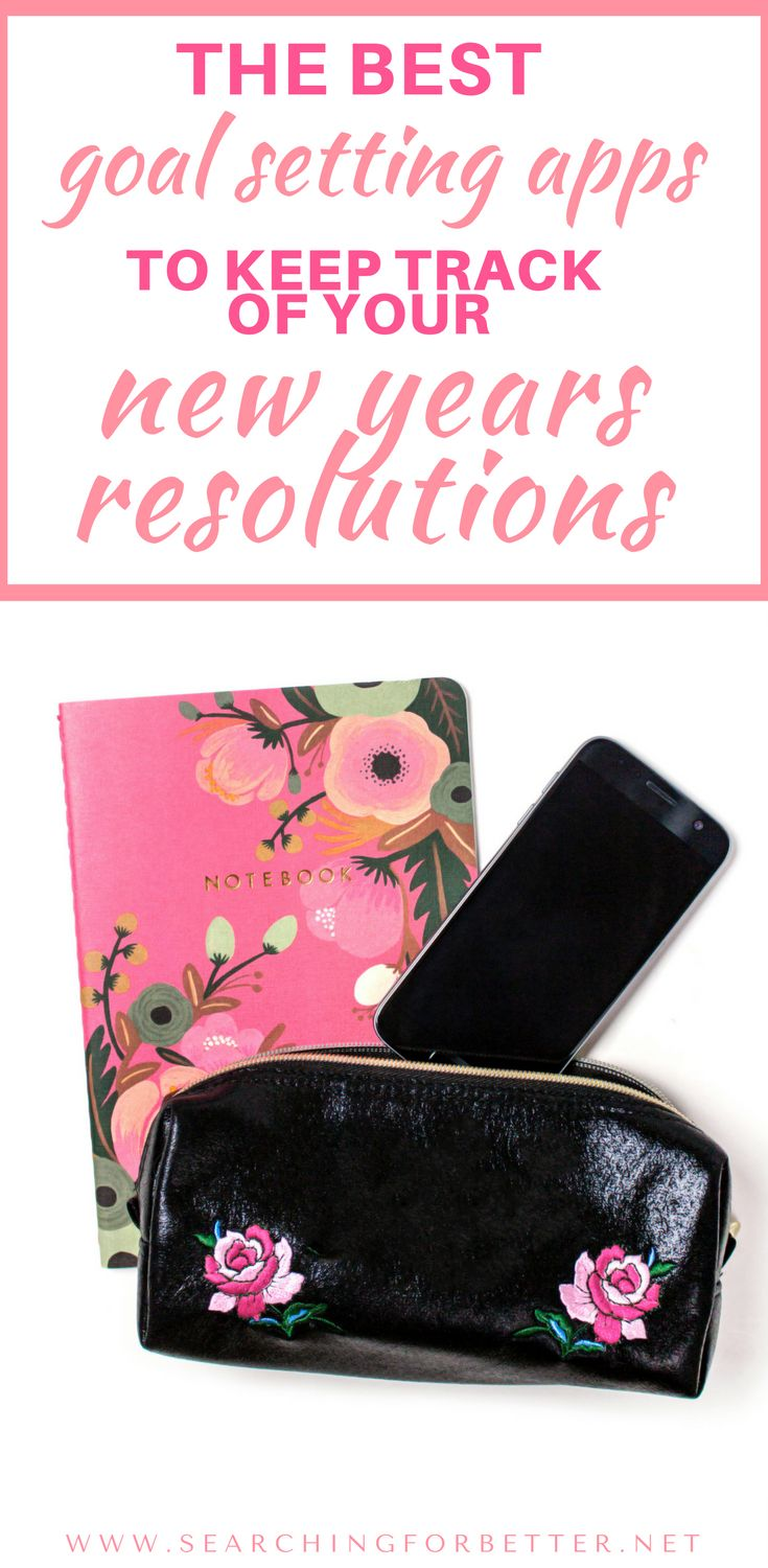These goal setting apps are a great way to keep track of your new years resolutions. #2 is one of the best ways to keep track of fitness & meditation goals!! I love using it!! #goals #2018 #newyear