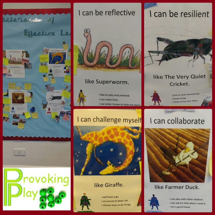 My Characteristics of Effective Learning display. I have linked the characteristics to the Learning Powers that we use throughout the rest of the school using age appropriate books to introduce each one to the children. When children show each characteristic we talk about it at carpet time and write it on a Post It to add to the display.