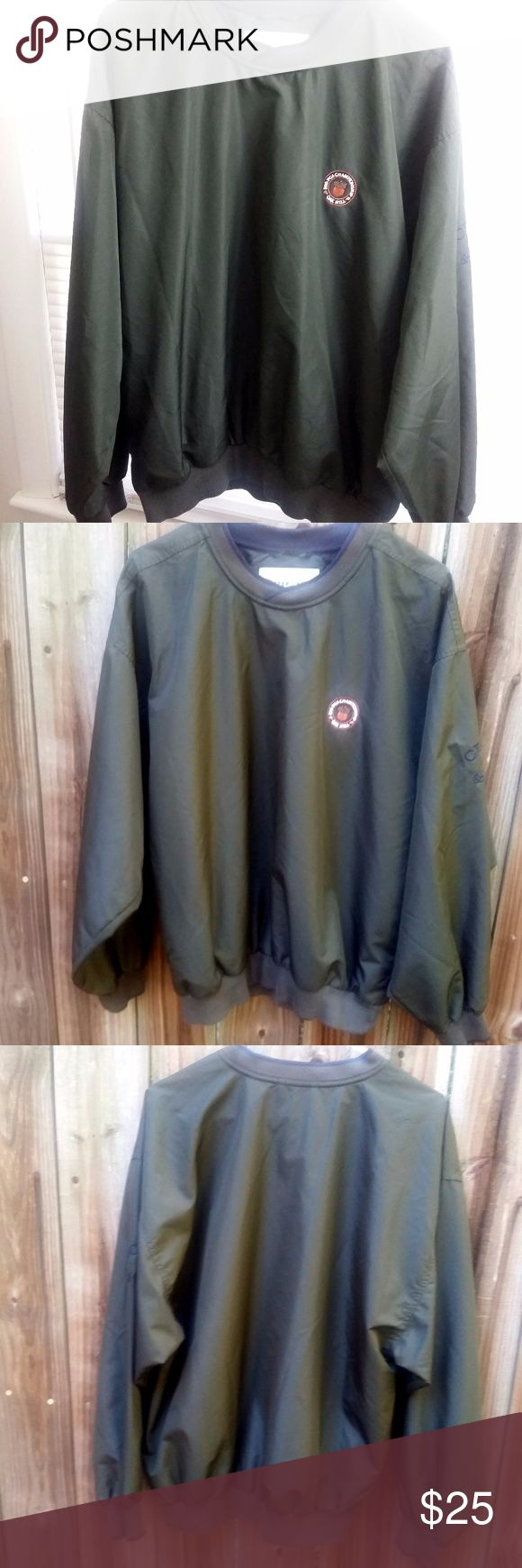 Cutter & Buck PGA Golf Championship Windbreaker This is a vintage Men's PGA Golf green windbreaker by Cutter and Buck.  Features - Excellent Condition - 85th PGA Championship Oak Hill emblem - Cutter & Buck logo on sleeve - 100% Polyester & Water Resistant  - Ribbed Sleeve Cuffs - Mesh Netting Lining Cutter & Buck Jackets & Coats Windbreakers