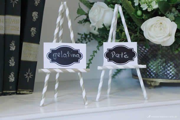 cavalete de canudo, we share ideas little secrets, marcador de lugar, mesa posta, decoração mesa