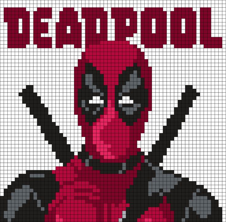 Deadpool Poster (Square) by Maninthebook on Kandi Patterns