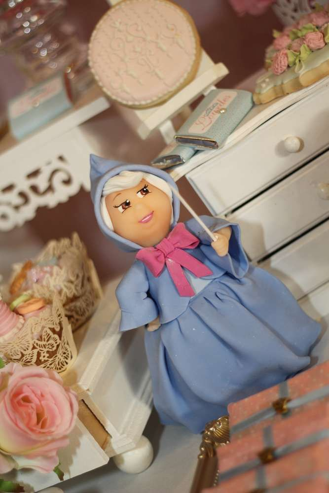 Fairy Godmother at a Cinderella birthday party! See more party planning ideas at CatchMyParty.com!