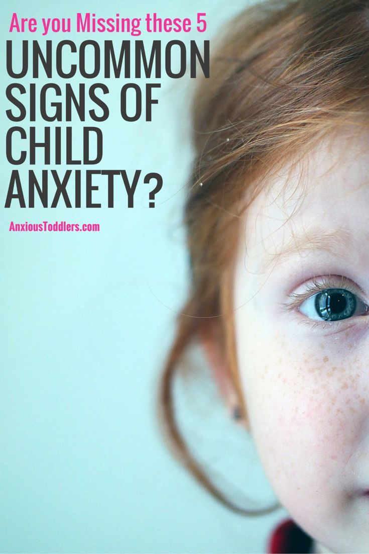 Uncommon signs of anxiety