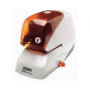 Grapadora eléctrica RAPID 5050E. Usa el mismo tipo de grapa, independientemente del número de hojas. Profundidad de grapado ajustable y grapado de precisión. Capacidad de grapado: 50 hojas.
