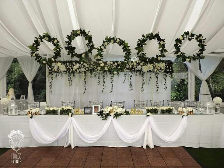 FLORAL HOOPS TOP HEDGE FLOWER WALL MAIN TABLE LIONESS CREATIVE EVENTS www.facebook.com/lionesscreativeevents