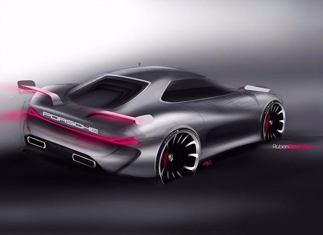 Porsche back  https://m.facebook.com/RubDLDESIGN/  #automotive #porschedesign #automotivedesign #transportationdesign #ilovecars #sketch #porsche #ilustrations #design #carsketch #designcars #productdesigner