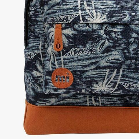 #mipac #denim palm backpack. Available online at #DistrictConceptStore Xar. Trikoupi 34-46, Ioannina Greece. The place to meet new fashion trends. Shipping to Europe.