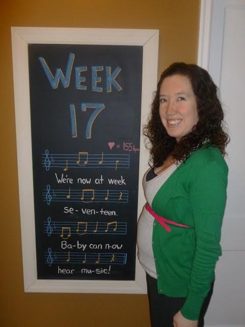 Week 17 Chalkboard Maternity Timeline