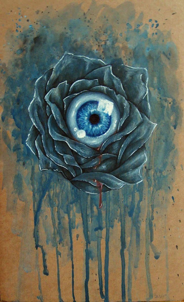 Eyeball in Flower.