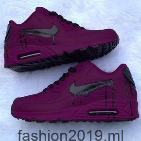 Dunkelrot Violett Schwarze Nike