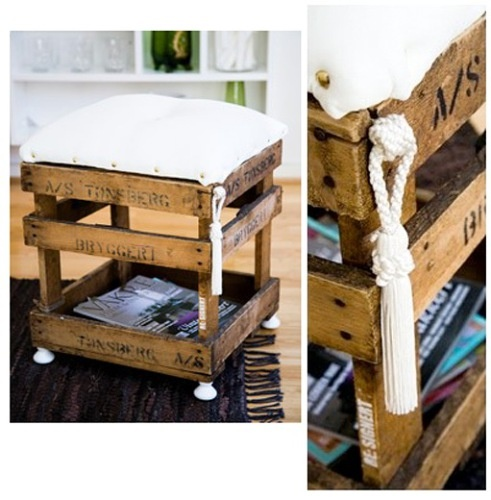 wooden box, which has been combined puff and magazine holder