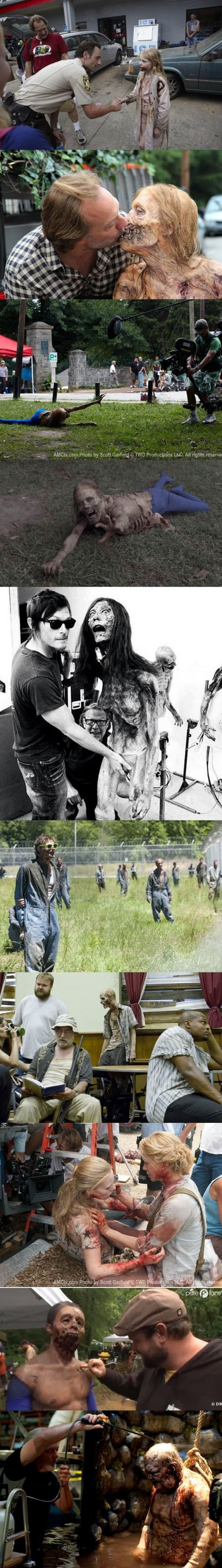 The Walking Dead, behind the scenes. I would love to be on set for this!!!!!