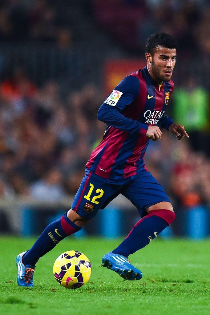 Rafinha of FC Barcelona runs with the ball during the La Liga match between FC Barcelona and Celta de Vigo at Camp Nou on November 1, 2014 in Barcelona, Spain.