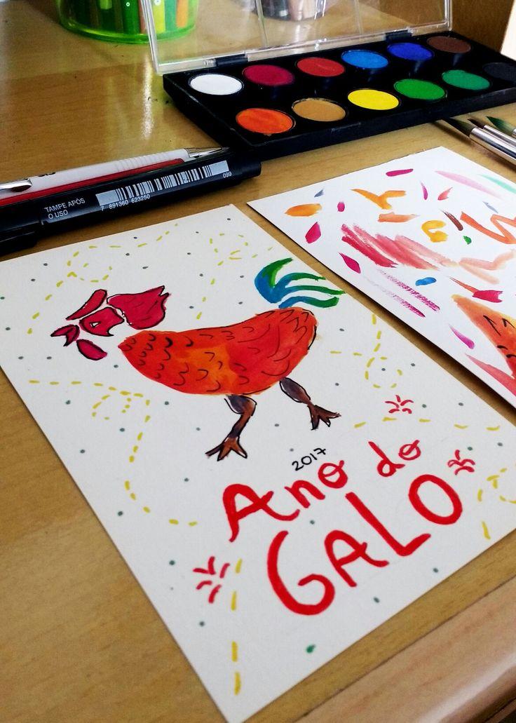 Ilustration By CAmila Ferreira -Arte de Camiilustra  Ano do Galo