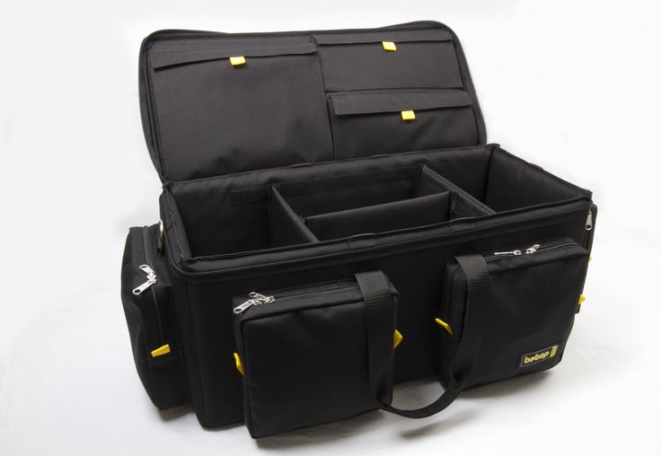 bebopbag production bags are made in London. The bags features with superior performance with aesthetic design. It protects and organize a load of accessories in an efficient, easy-tocarry protective package. The equipment is thoroughly protected within a padded and rigid frame. The production bag is the ideal bag that offers extra stability and durability.