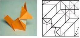 Crease patterns, CP, technical origami, paper folding, origami design.