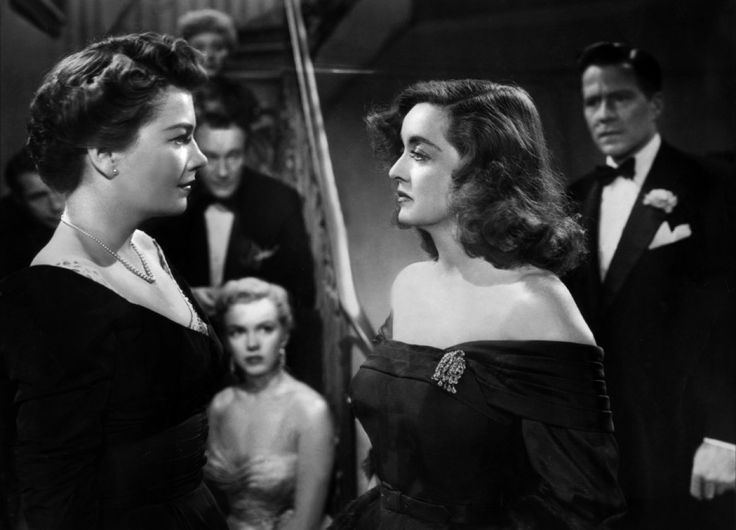 Anne Baxter and Bette Davis in All about Eve directed by Joseph L. Mankiewicz, 1950