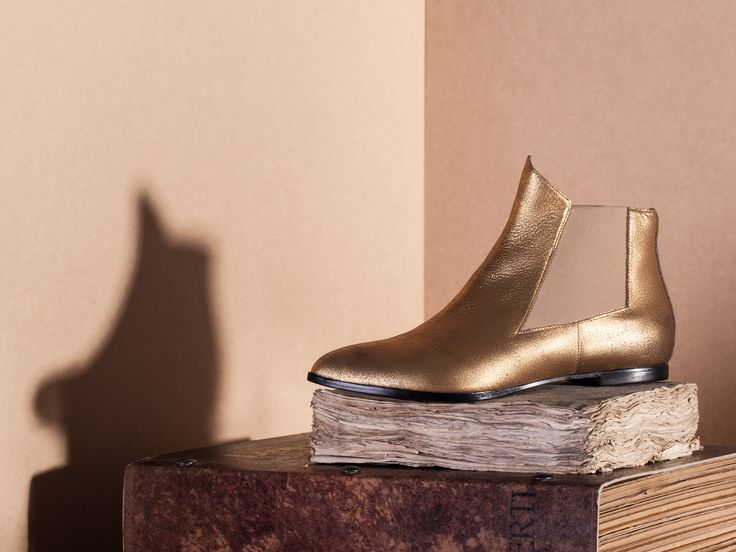 Tristan,ankleboots, golden, nappa leather, handmade in Italy, Lamperti Milano